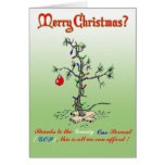 Thanks to the Greedy One Percent Funny Christmas C Greeting Cards