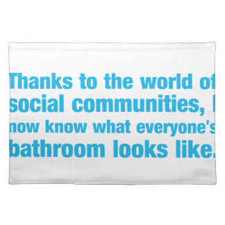 thanks to the world of social communities i know.. cloth place mat