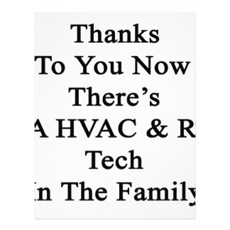 Thanks To You Now There's A HVAC R Tech In The Fam Letterhead