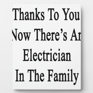 Thanks To You Now There's An Electrician Plaque