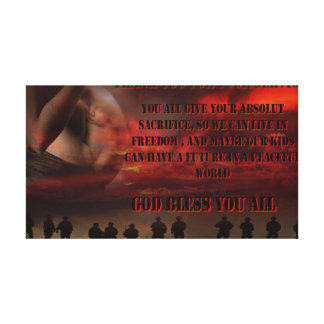 thanks ton all Soldiers Gallery Wrapped Canvas