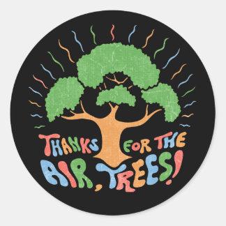 Thanks, Trees! Classic Round Sticker