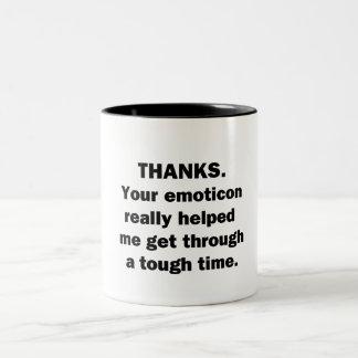 Thanks. Two-Tone Coffee Mug