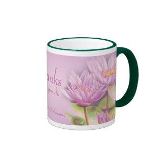 Thanks water lily mug