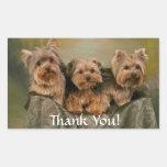 Thanks Yorkshire Terrier Puppy Dogs Sticker
