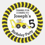 Thanks You Kids Construction Birthday Sticker at Zazzle