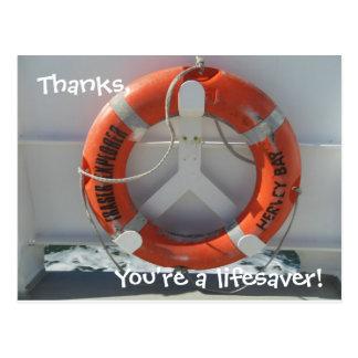 Thanks, You're a lifesaver! Postcard