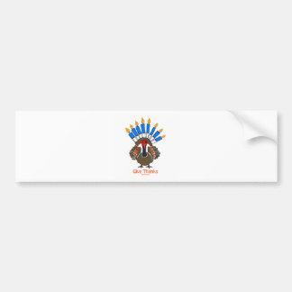 Thanksanukkah Thanksgivukkah  turkey menorah gift Bumper Sticker