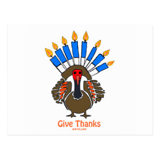 Thanksanukkah Thanksgivukkah  turkey menorah gift Postcard