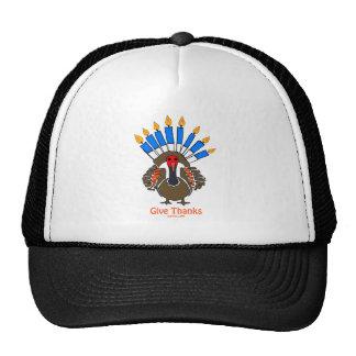 Thanksanukkah Thanksgivukkah  turkey menorah gift Trucker Hat