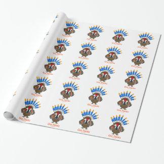 Thanksanukkah Thanksgivukkah  turkey menorah gift Wrapping Paper