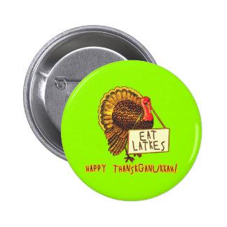 Thanksganukkah feliz COME los LATKES Pin