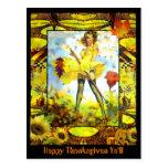 Thanksgiven feliz usted tarjetas postales