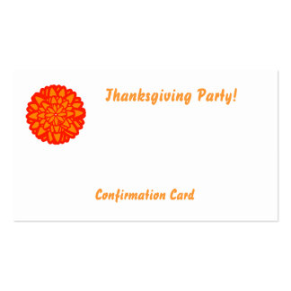 Thanksgivig Party!-Customize Business Card