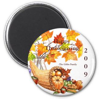 Thanksgiving 2009-Gibbs Family II Magnet