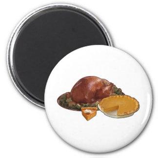 Thanksgiving 2 Inch Round Magnet