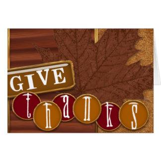 Thanksgiving -3 greeting card