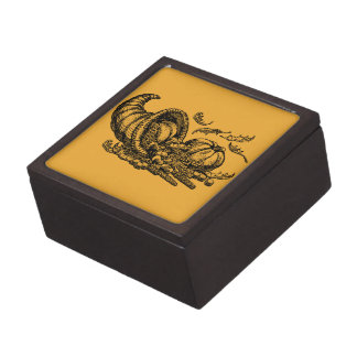 "Thanksgiving 3"" Square Gift Box Premium Jewelry"