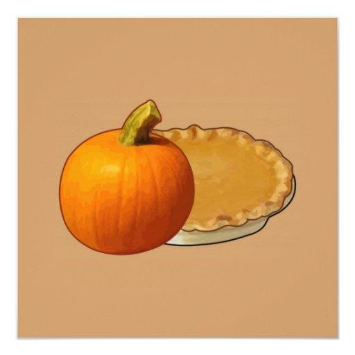 "Thanksgiving 5.25"" Square Invitation Card"
