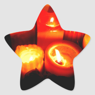 Thanksgiving and Autumn Candle Vignette Star Sticker