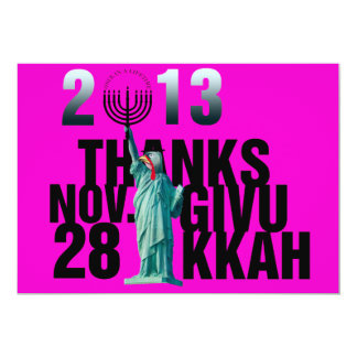 Thanksgiving and Hanukkah.  Enjoy Thanksgivukkah! Card
