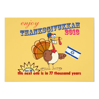 Thanksgiving and Hanukkah.  Thanksgivukkah Card