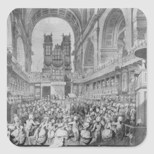 Thanksgiving at St. Paul's for George III's Square Stickers