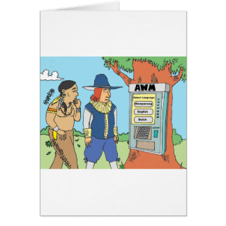 THANKSGIVING / ATM / FINANCIAL / BANKER gifts Greeting Card