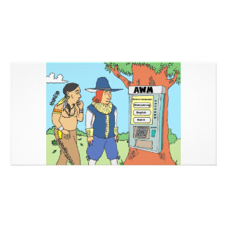 THANKSGIVING ATM FINANCIAL BANKER gifts Photo Cards