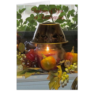 Thanksgiving Autumn Candle Card