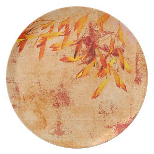 thanksgiving autumn dinner plate. | Zazzle