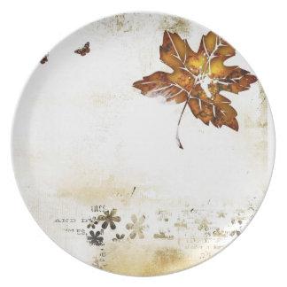 Thanksgiving Autumn Dinner Plate. Melamine Plate