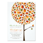 Thanksgiving Autumn Fall Leaves Pop Tree Party 5x7 Paper Invitation Card
