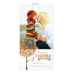 Thanksgiving Autumn Fall Leaves Pop Tree Photo Personalized Photo Card