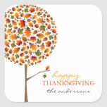 Thanksgiving Autumn Fall Leaves Pop Tree Stickers