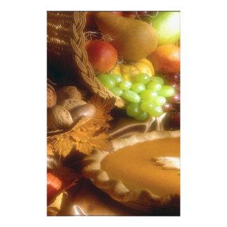 Thanksgiving Autumn Feast Dinner Print Stationery