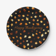 Thanksgiving Autumn Leaves 7 Inch Paper Plate