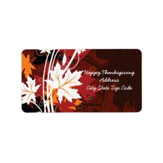Thanksgiving autumn leaves-maple custom labels