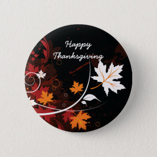 Thanksgiving autumn leaves-maple custom products pinback button