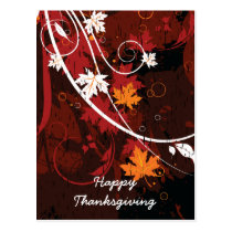 Thanksgiving autumn leaves-maple custom products postcard