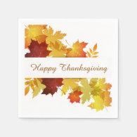 Thanksgiving Autumn Leaves Napkin