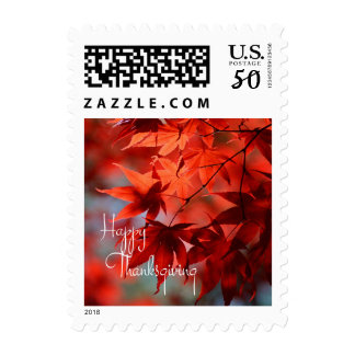 Thanksgiving Autumn Leaves Postage Stamps