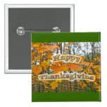 Thanksgiving Autumn Maple Foliage 2 Inch Square Button