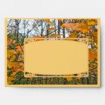 Thanksgiving Autumn Maple Foliage Envelope