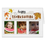 thanksgiving autumn photo card