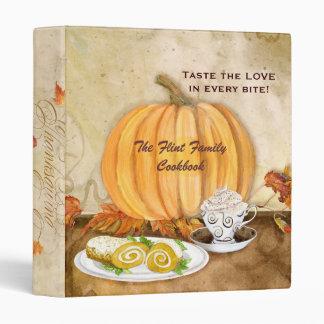 Thanksgiving Autumn Pumpkin Family Cookbook Binder