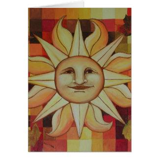 Thanksgiving Autumn Sun Card