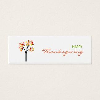 Thanksgiving Autumn Tree Gift Tag