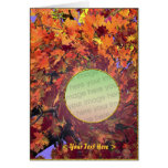 Thanksgiving Autumn Whirl (photo frame) Greeting Cards