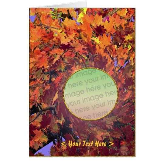 Thanksgiving Autumn Whirl (photo frame) Card